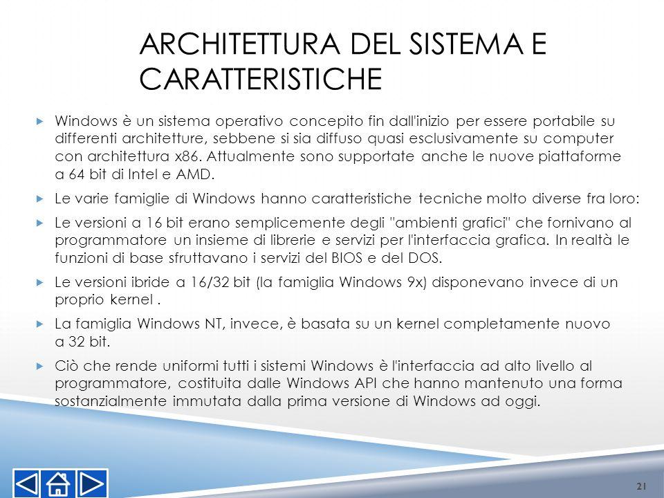 Architettura del sistema e caratteristiche