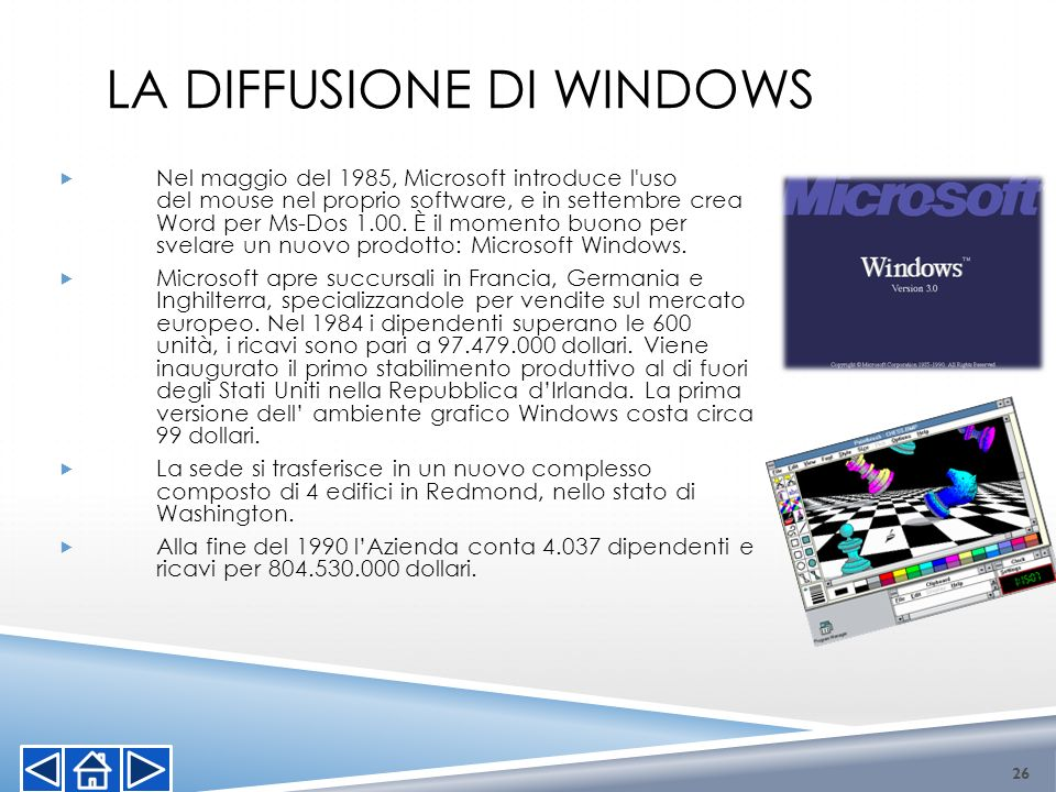 La diffusione di Windows
