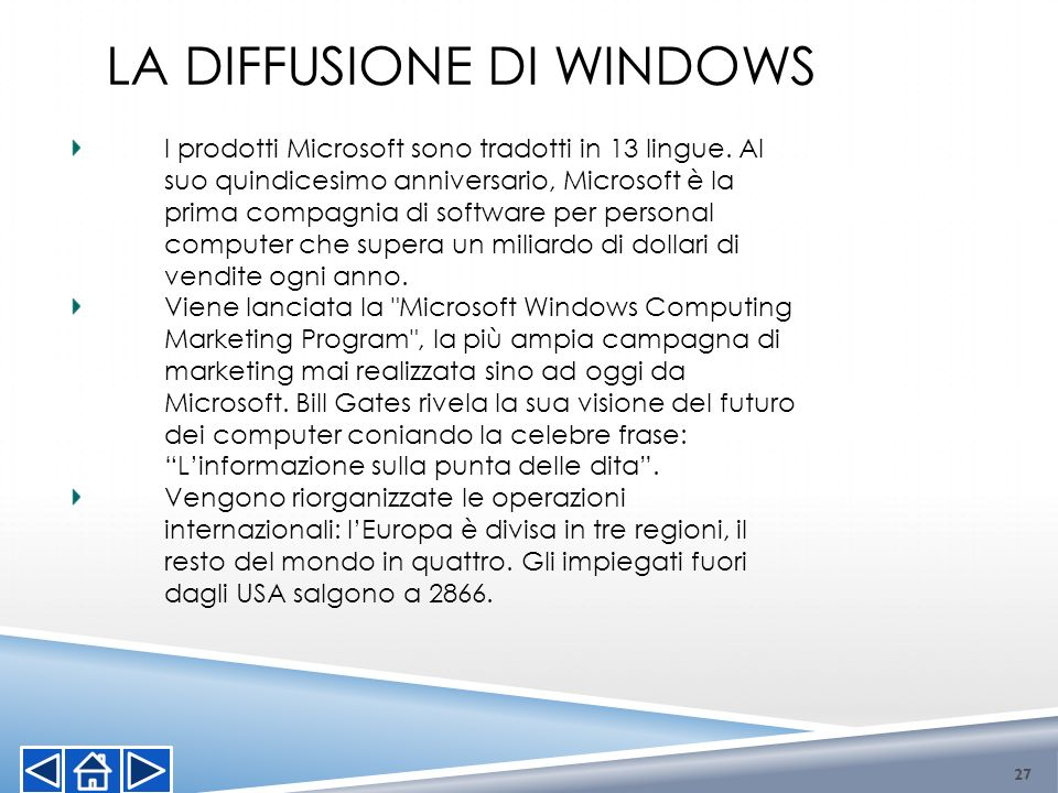 La diffusione di Windows