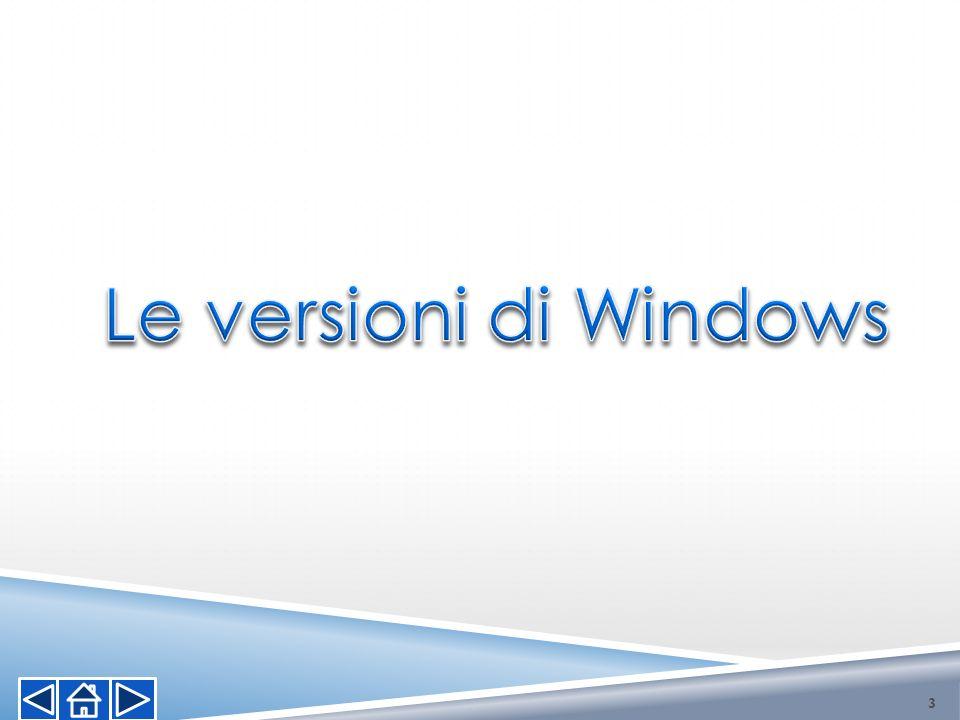 Le versioni di Windows