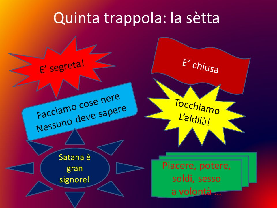 Quinta trappola: la sètta