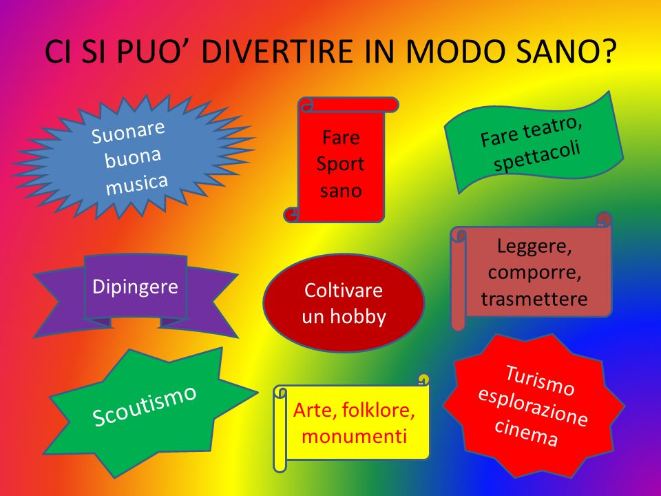 CI SI PUO' DIVERTIRE IN MODO SANO