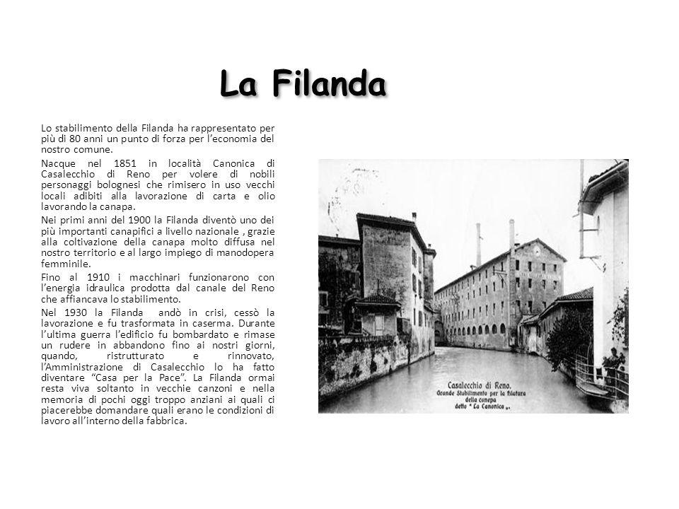 La Filanda Lo stabilimento della Filanda ha rappresentato per più di 80 anni un punto di forza per l'economia del nostro comune.