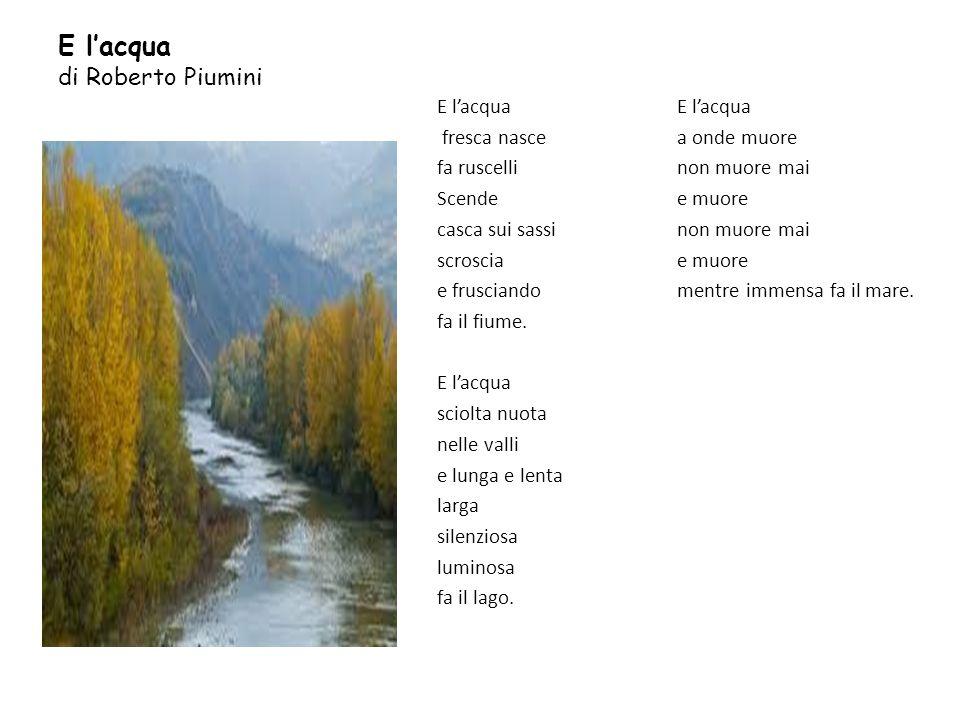 E l'acqua di Roberto Piumini