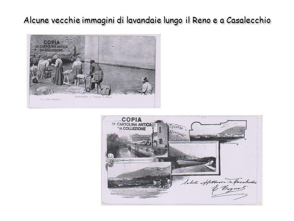 Alcune vecchie immagini di lavandaie lungo il Reno e a Casalecchio