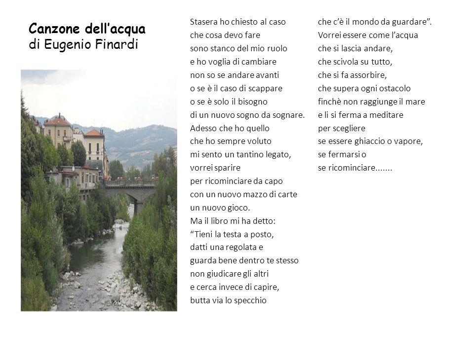 Canzone dell'acqua di Eugenio Finardi