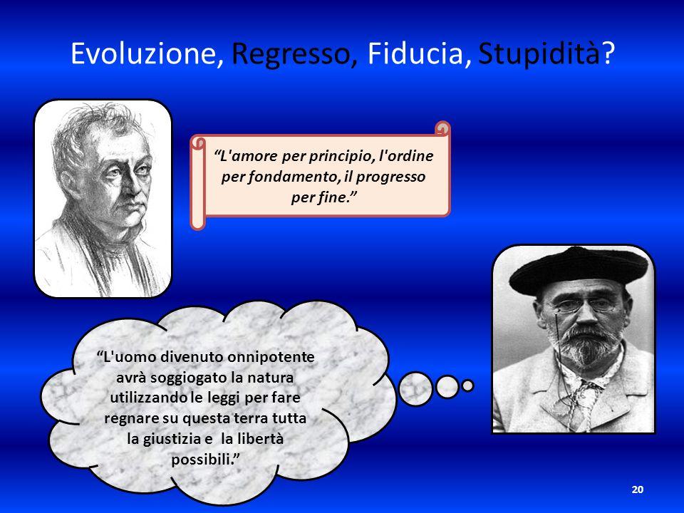 Evoluzione, Regresso, Fiducia, Stupidità