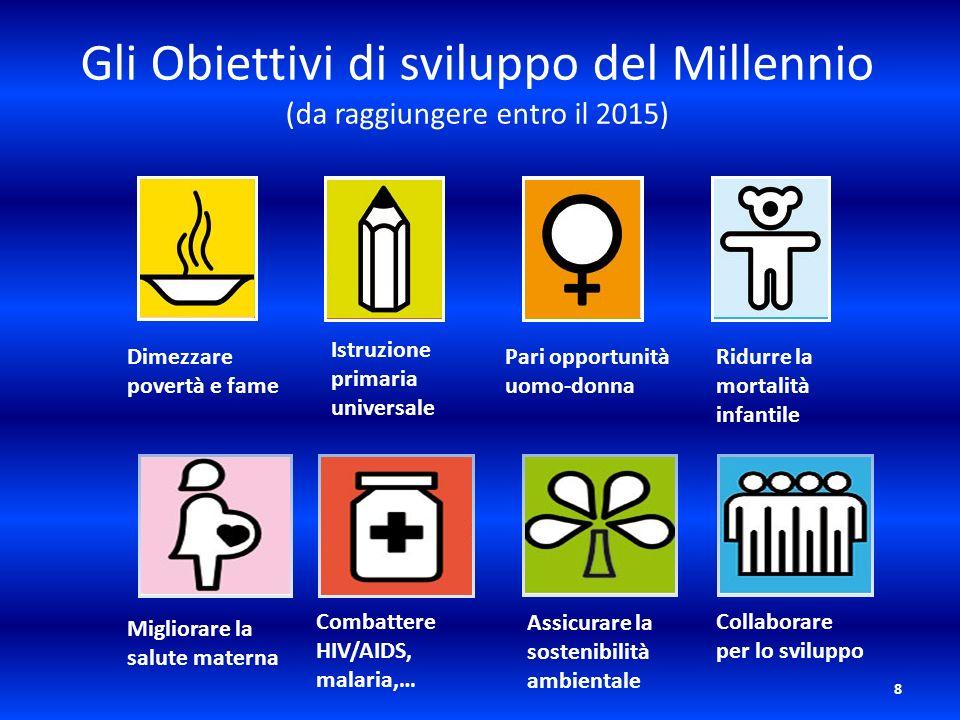 Gli Obiettivi di sviluppo del Millennio (da raggiungere entro il 2015)