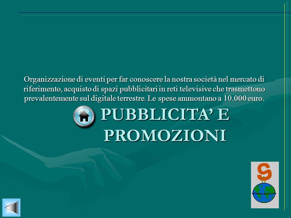 PUBBLICITA' E PROMOZIONI