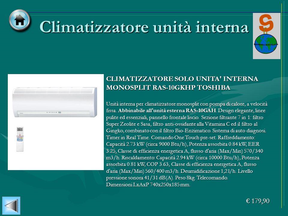 Climatizzatore unità interna