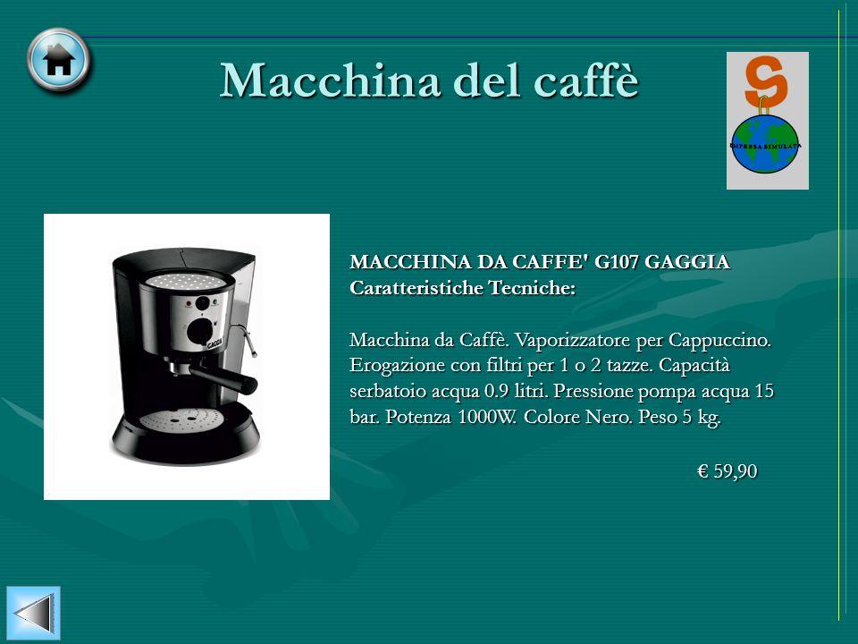 Macchina del caffè MACCHINA DA CAFFE G107 GAGGIA