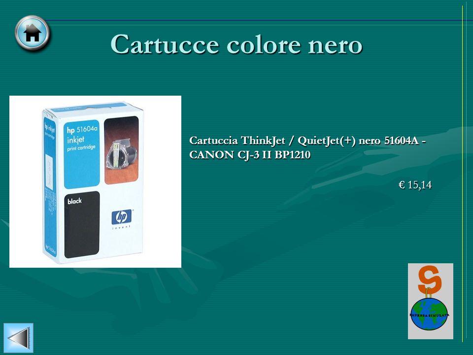 Cartucce colore nero Cartuccia ThinkJet / QuietJet(+) nero 51604A - CANON CJ-3 II BP1210 € 15,14