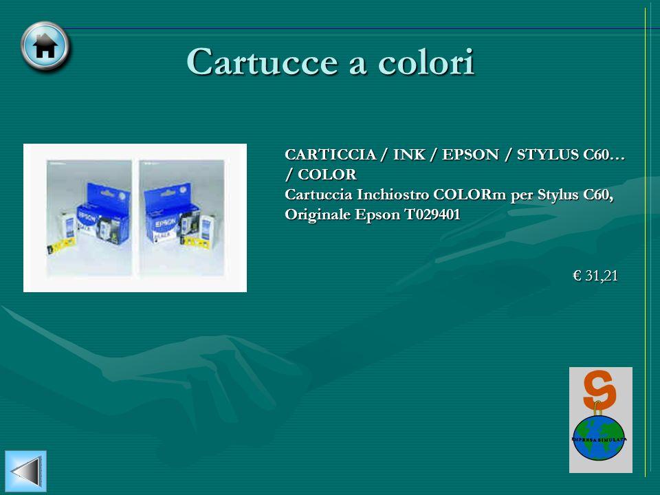 Cartucce a coloriCARTICCIA / INK / EPSON / STYLUS C60… / COLOR Cartuccia Inchiostro COLORm per Stylus C60, Originale Epson T029401.