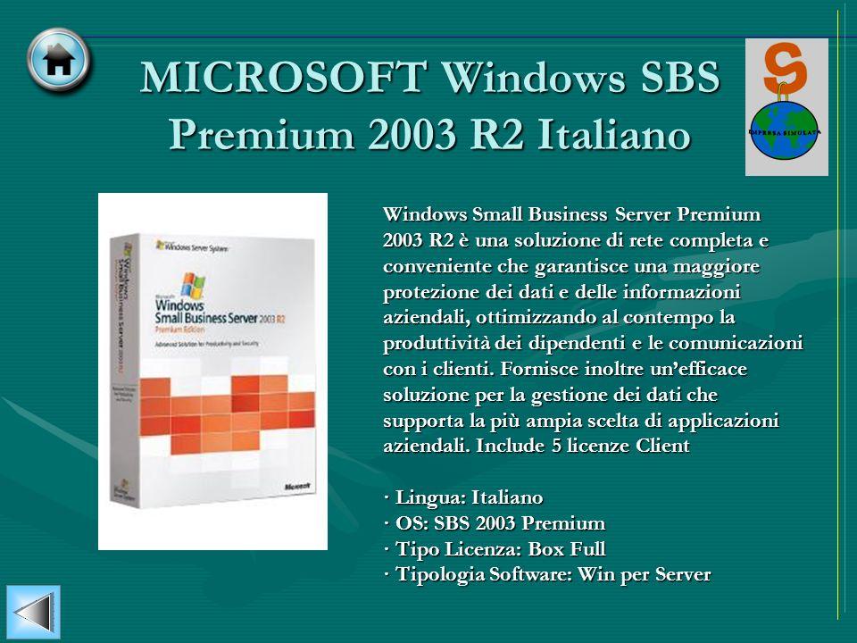 MICROSOFT Windows SBS Premium 2003 R2 Italiano