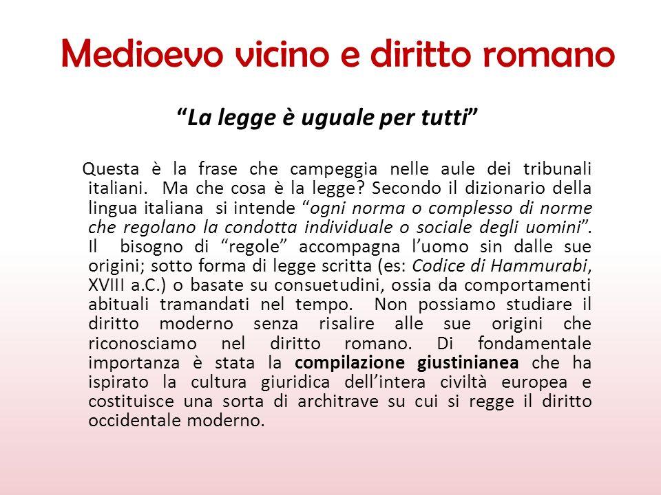 Medioevo vicino e diritto romano