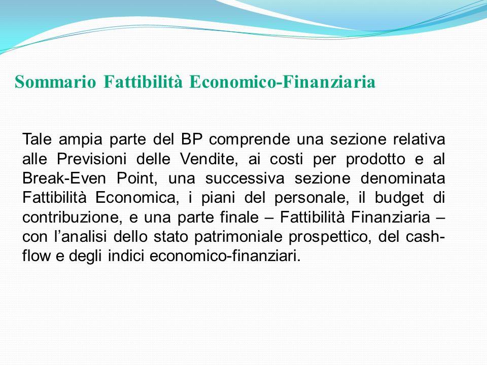 Sommario Fattibilità Economico-Finanziaria