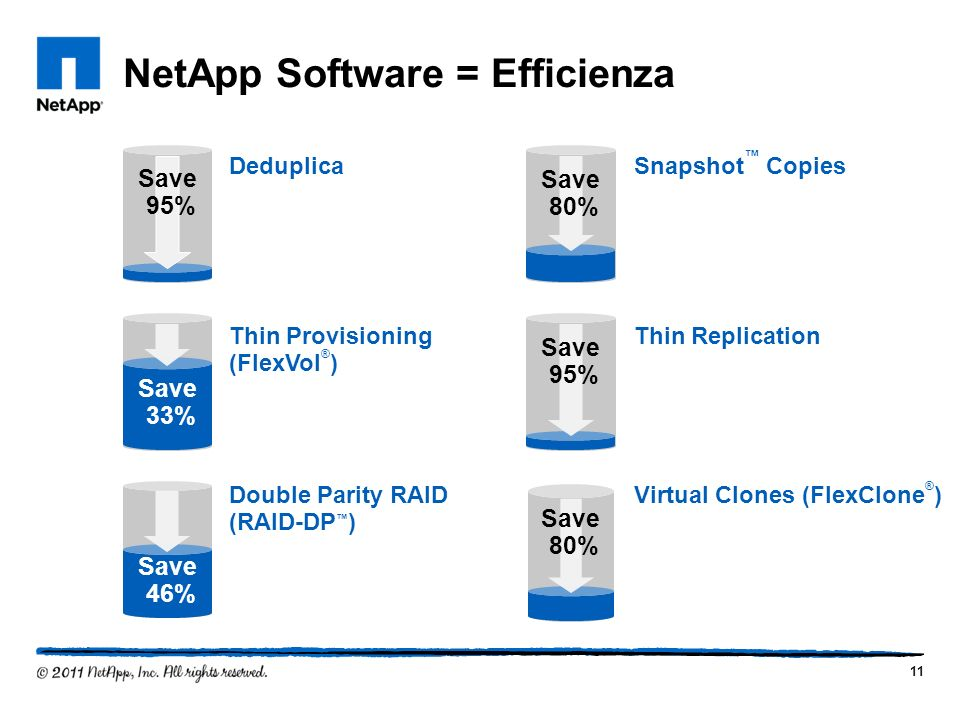 NetApp Software = Efficienza