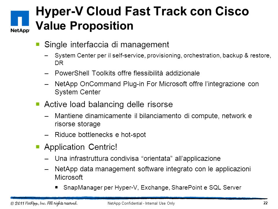 Hyper-V Cloud Fast Track con Cisco Value Proposition