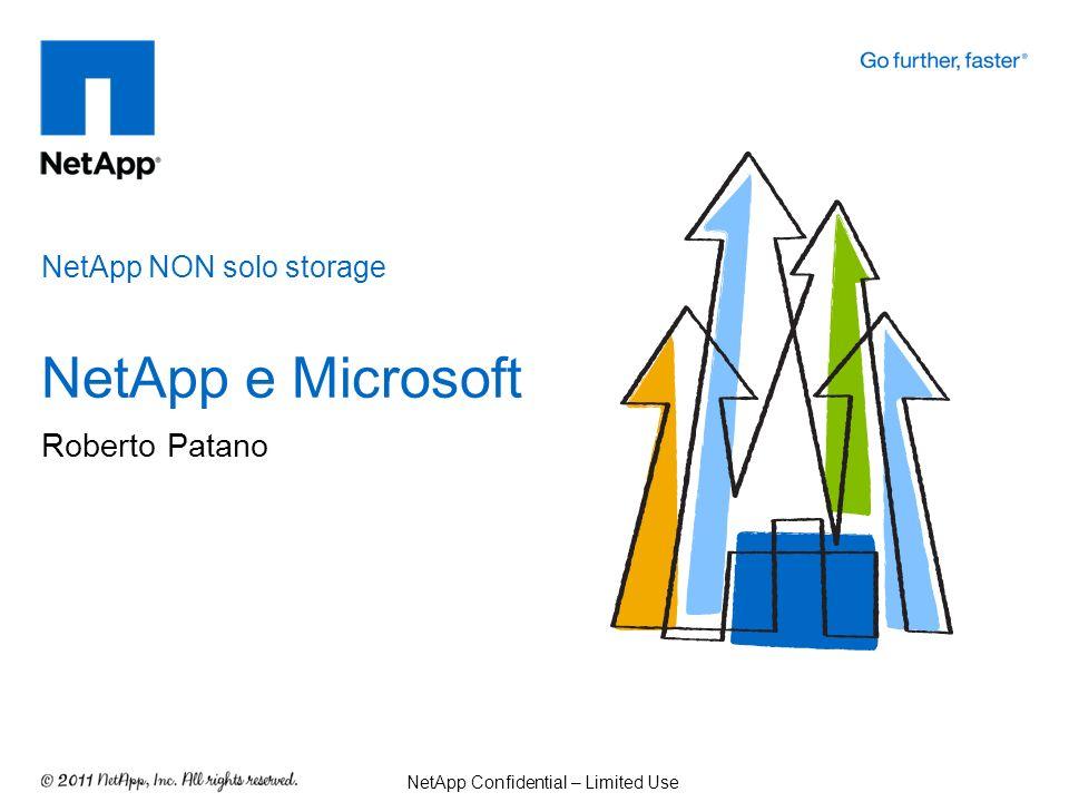 NetApp NON solo storage NetApp e Microsoft