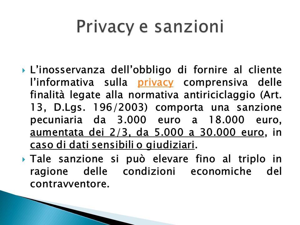 Privacy e sanzioni
