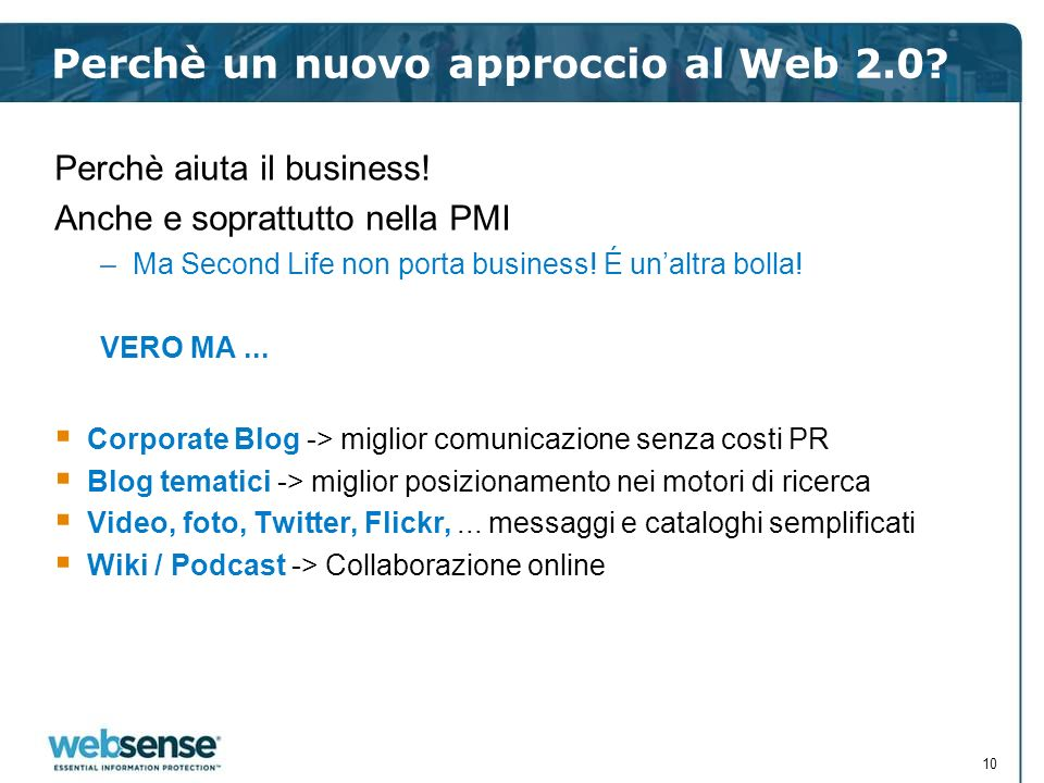 Perchè un nuovo approccio al Web 2.0