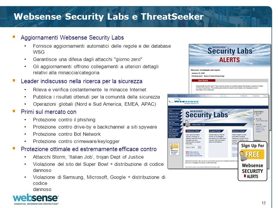 Websense Security Labs e ThreatSeeker