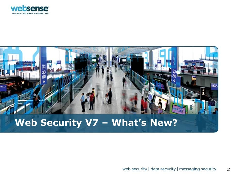 Web Security V7 – What's New