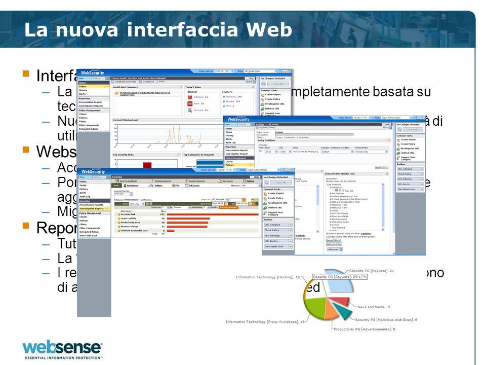 La nuova interfaccia Web