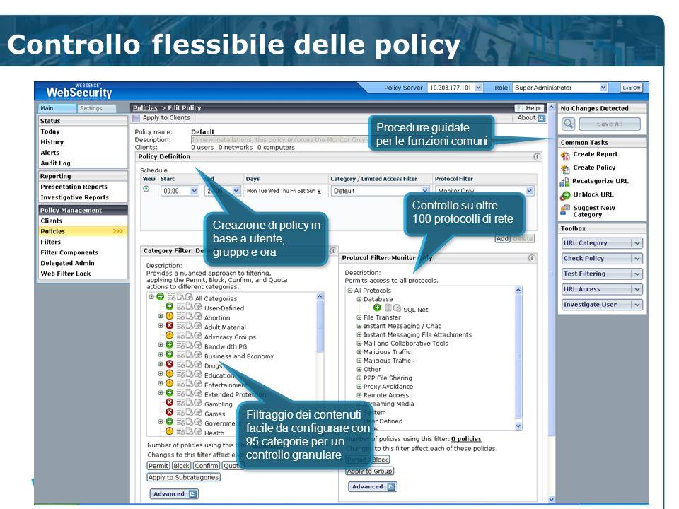 Controllo flessibile delle policy