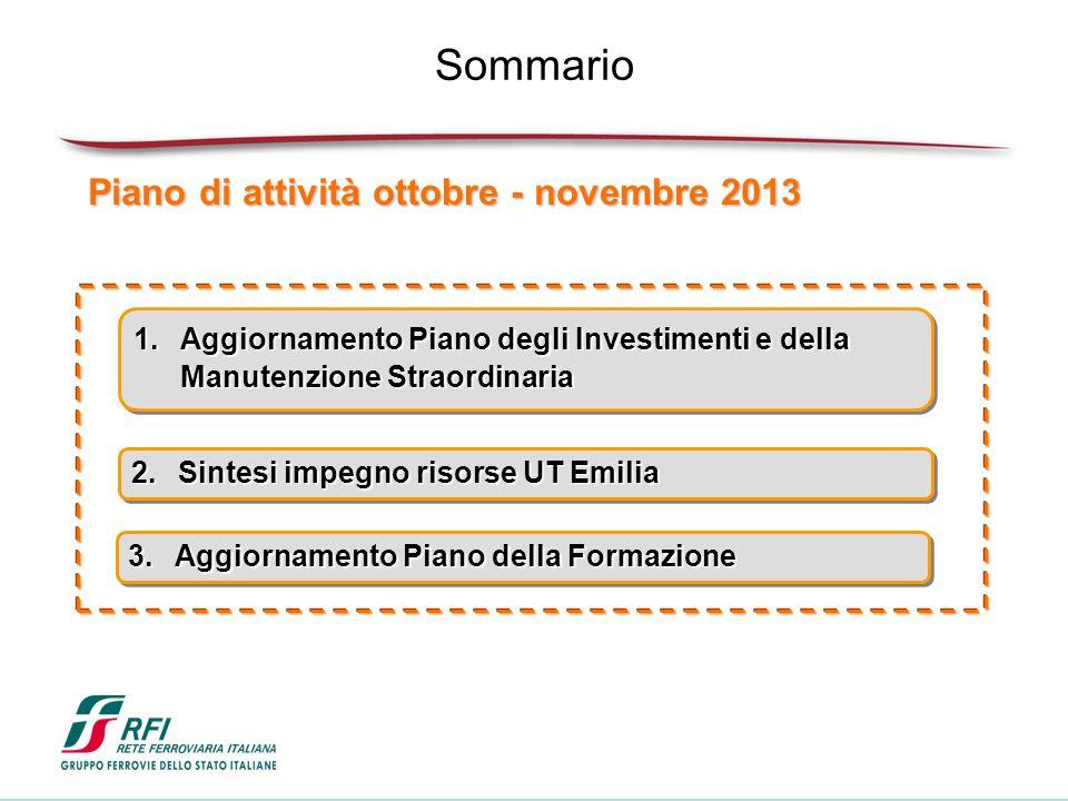 Sommario Piano di attività ottobre - novembre 2013