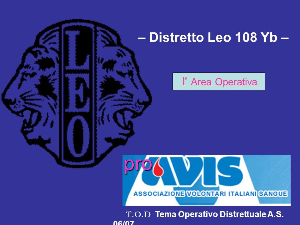 pro – Distretto Leo 108 Yb – Ia Area Operativa