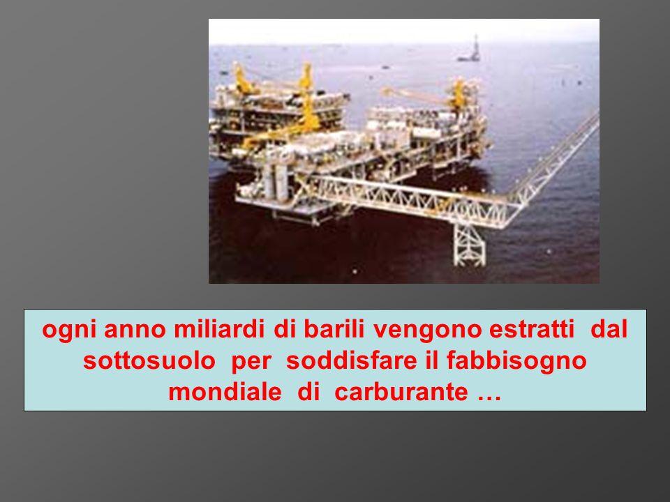 ogni anno miliardi di barili vengono estratti dal sottosuolo per soddisfare il fabbisogno mondiale di carburante …