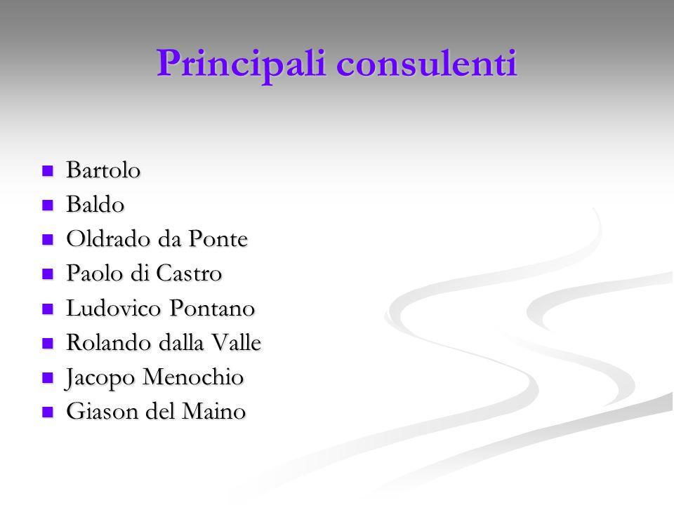 Principali consulenti