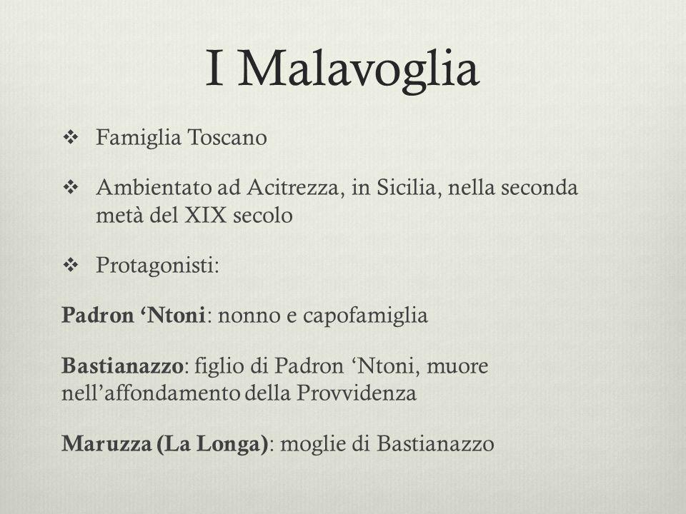I Malavoglia Famiglia Toscano