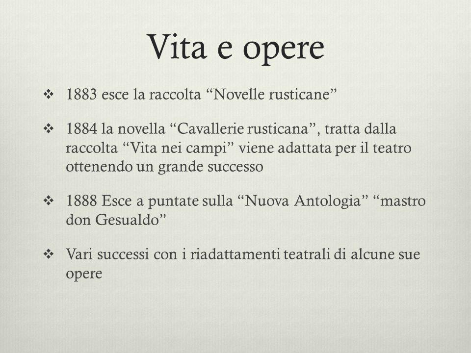 Vita e opere 1883 esce la raccolta Novelle rusticane