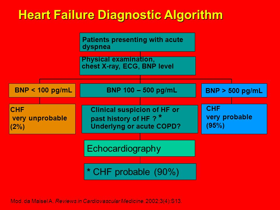 Heart Failure Diagnostic Algorithm