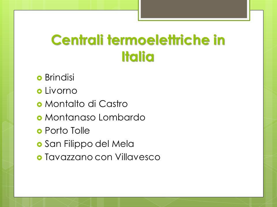 Centrali termoelettriche in Italia