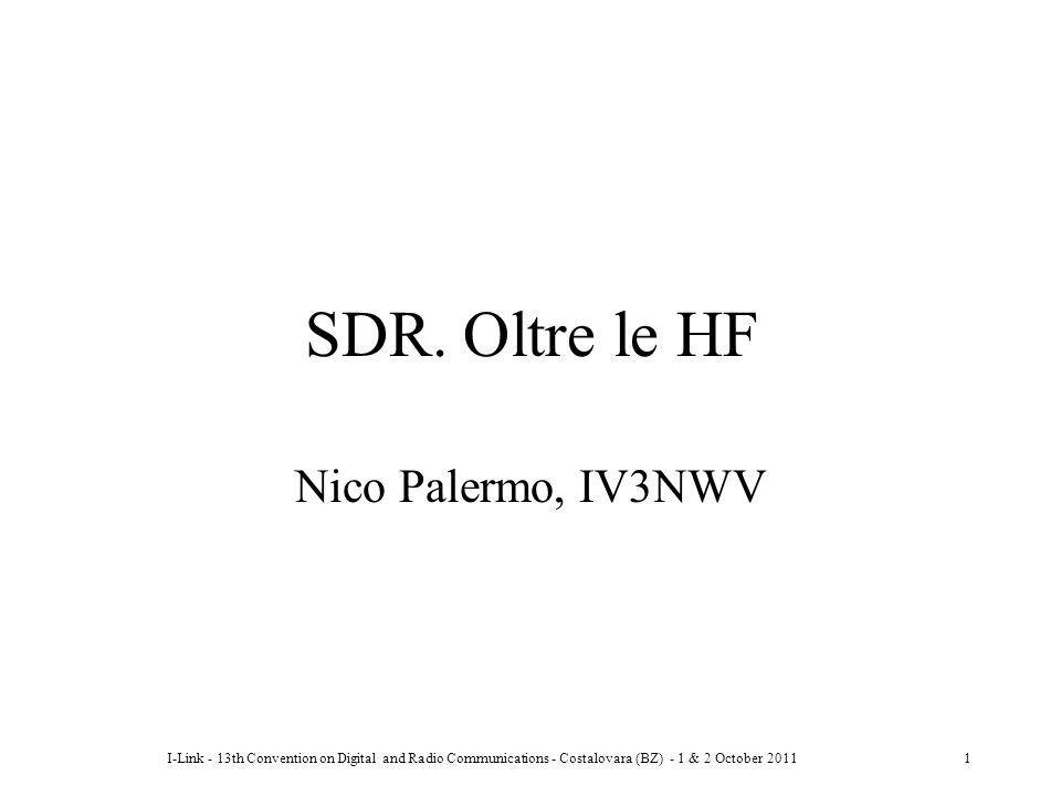SDR. Oltre le HF Nico Palermo, IV3NWV