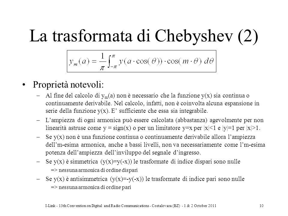La trasformata di Chebyshev (2)
