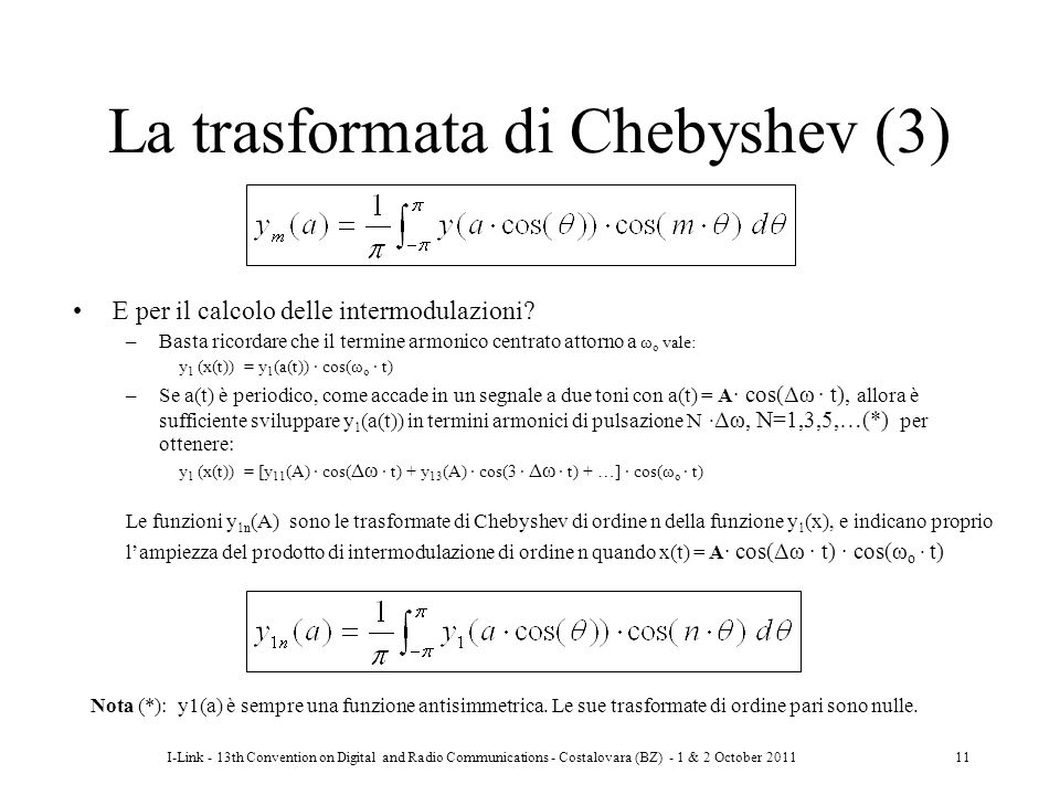 La trasformata di Chebyshev (3)