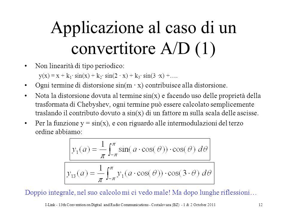 Applicazione al caso di un convertitore A/D (1)