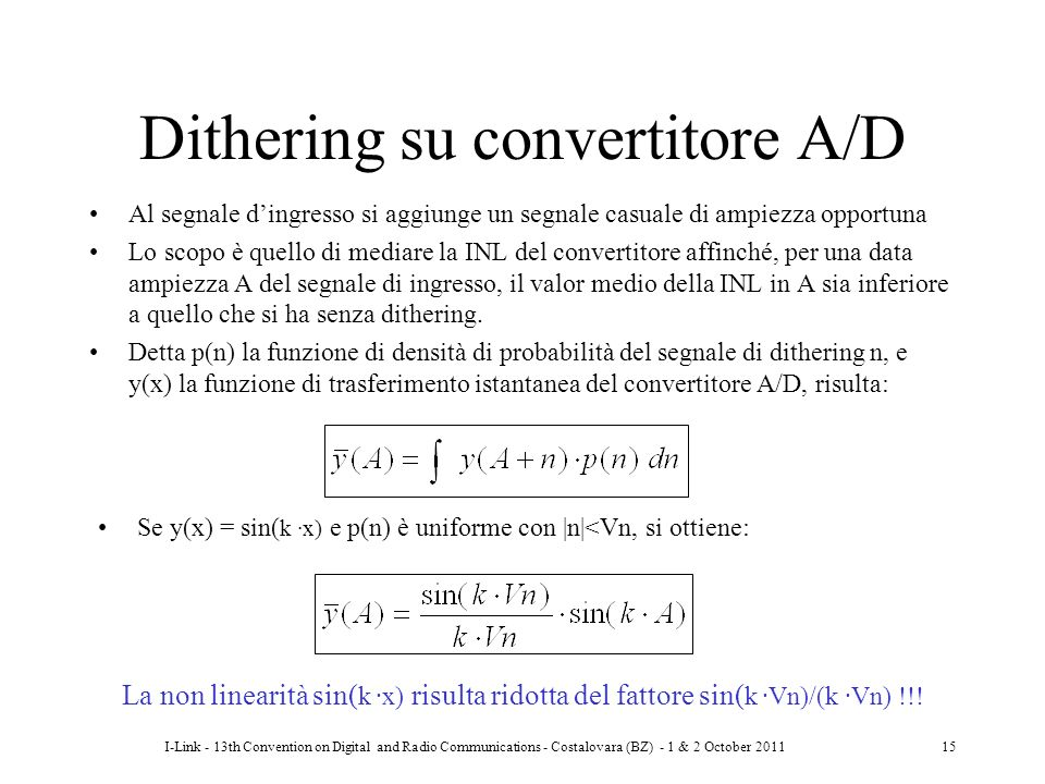 Dithering su convertitore A/D