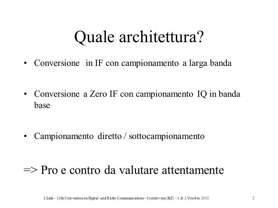 Quale architettura => Pro e contro da valutare attentamente