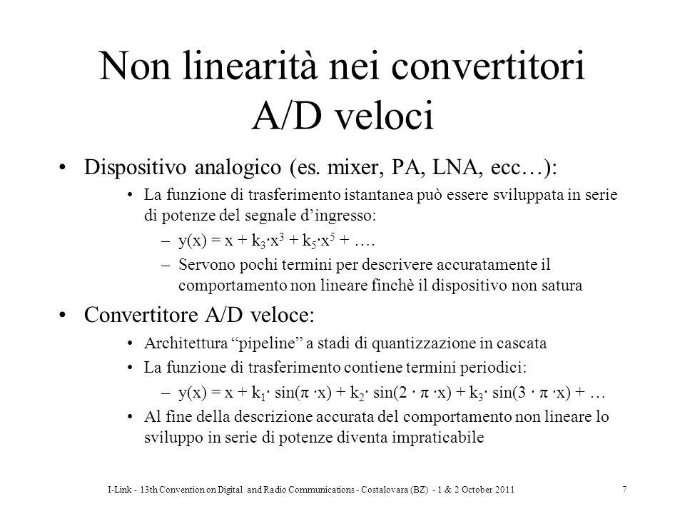 Non linearità nei convertitori A/D veloci