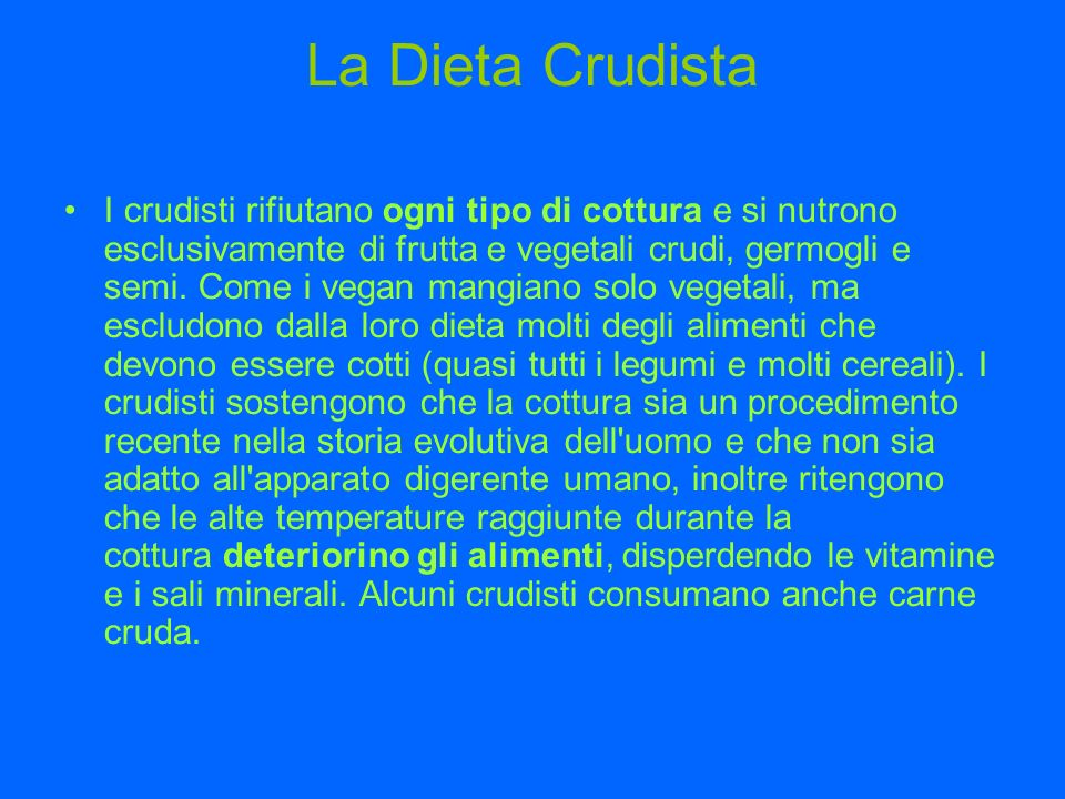 La Dieta Crudista