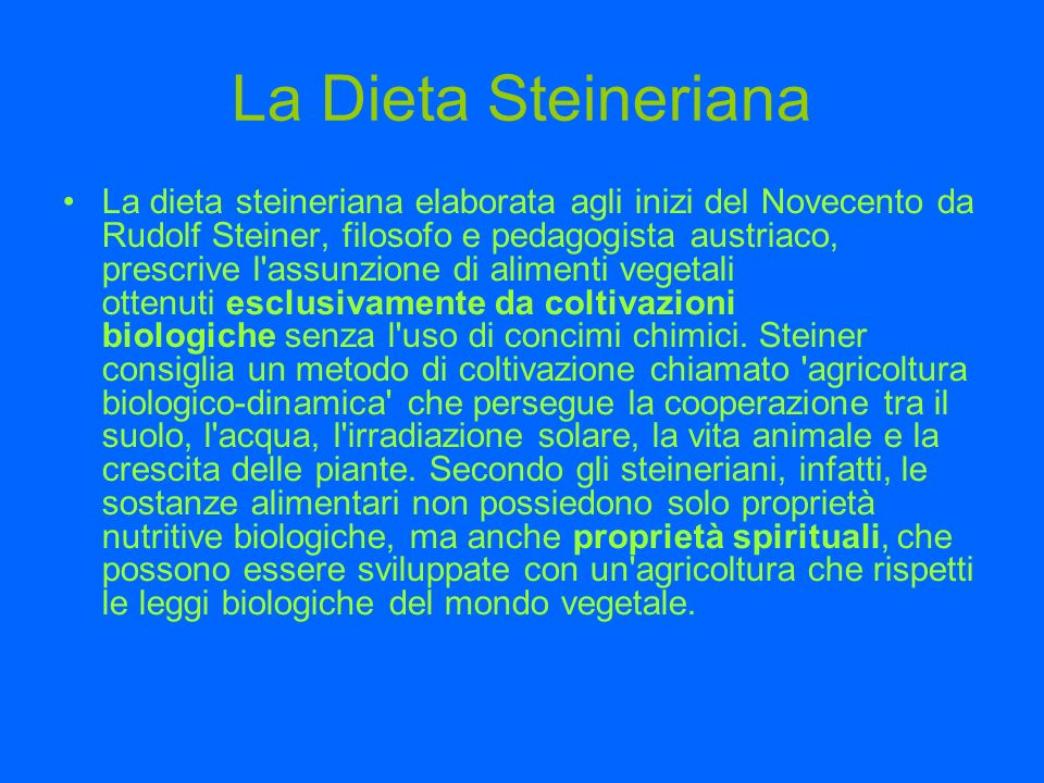 La Dieta Steineriana