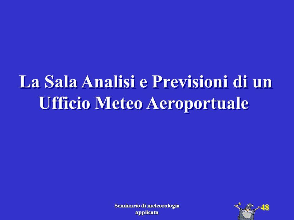 La Sala Analisi e Previsioni di un Ufficio Meteo Aeroportuale