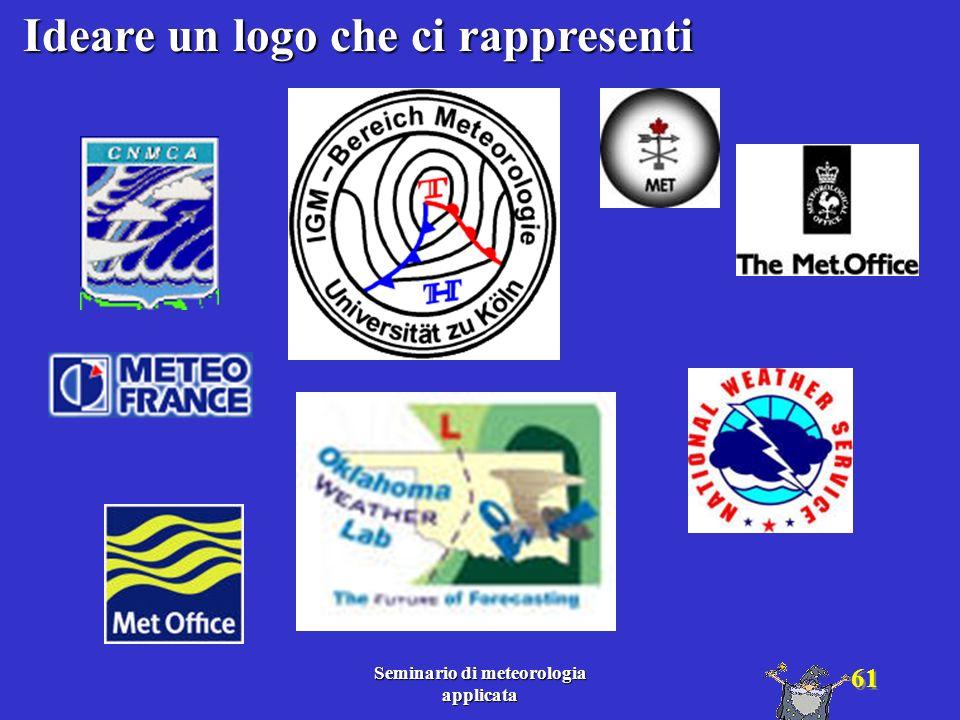 Ideare un logo che ci rappresenti Seminario di meteorologia applicata