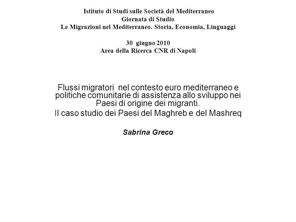 Il caso studio dei Paesi del Maghreb e del Mashreq
