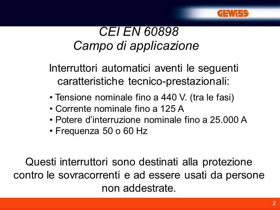 CEI EN 60898 Campo di applicazione